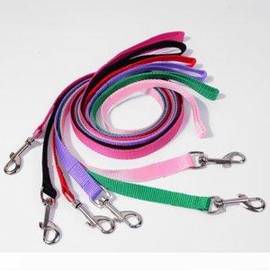 500pcs lot Width 1.5cm Long 120cm Nylon Dog Leashes Pet Puppy Training Straps Black Blue Dogs Lead Rope Belt Leash
