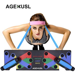 AGEKUSL Push Up rack 9 Conseil Systèmes Pushup Stands complète Gym Exercise Fitness Equipements Avec Marque