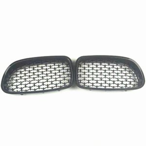 1 Pair Front Kidney Grille For G30 G38 New Diamond Grill For 5 Series Abs Glossy Black Grille Front Grille