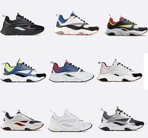 Últimas sneakers Designer B22 do vintage de couro Mens Trainers Mulheres Sapatilhas Luxo Plataforma Sneakers Top Quality Canvas E bezerro Formadores