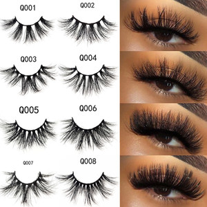 3D mink cils 100% véritable vison cils 22-25 mm de long dramatique épais de faux lashs à la main Crisscoss EXTENSIONS Beauty Maquillage 3 Série