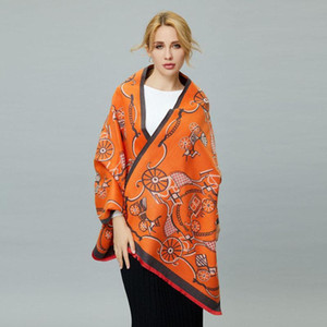 European and American Style Ladies Fashion Popular Carriage Pattern Printing Cashmere Shawl Warm Scarf Best Valentine Gift Blanket