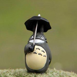 şemsiye oyuncak 4.5cm Totoro rakam aksiyon figurens totoro komşum Mikro peyzaj peyzaj dekor bebek