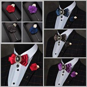 i-Remiel британский стиль мужской лук брошь галстук для жениха свадьба горный хрусталь галстук-бабочка булавка церемониймейстер ночной клуб аксессуары