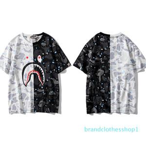 2020 Mens Designer T-Shirts Womens Luxury Tshirts Fashion Summer Brand Short Sleeves Shirts Street Styles Shark Head Print Tees 2032700V