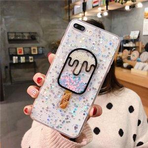 Yaz Bling Glitter Dondurma Telefon Kılıfı için Iphone 11 Pro Max Aşk Kalp TPU Silikon Kapak için Iphone Xr X Xsmax 6 7 8