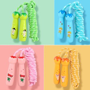 2020 new arrival Rope Homeschool Workout Equipments for Girls Fitness Accessory Child Jump Rope Cute Cartoon Adjustable Skipping