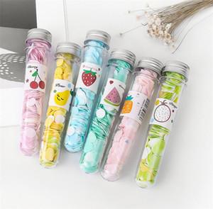 Reisen Mini duftende Seife Bad Kind Händewaschen Seife Papier Schlauchportable Petal Obst Seifen-Blumen-Papier zufällige Farben