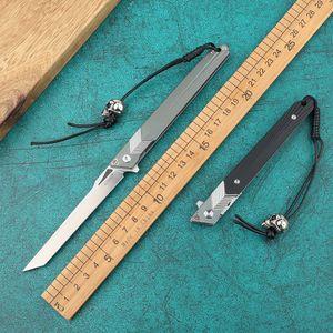 taktik av katlama bıçağı açık hayatta kalma bıçak keskin açık Xiaowuzhe M390, toz çelik sihirli kalem katlama bıçağı vahşi yaşam aracı