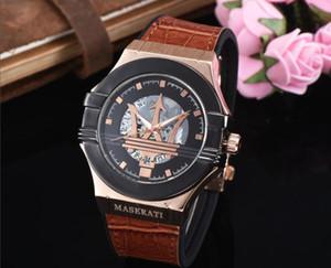 럭셔리 남성 마세라티는 세라믹 베젤 가죽 스틸 자동 해골 다이얼 reloj 드 lujo 사파이어 방수 시계 시계