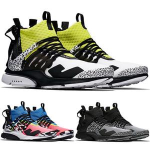2020 x Acronyme Presto Mid Chaussures de course Hommes Femmes prestos Zapatillas Hot Lava dynamique Jaune Racer Cool Pink Gris Sport formateurs Sneaker