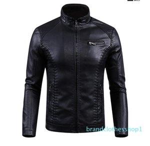 Fashion-New Winter PU Leather Jacket men leather Jackets Furcoat mens leather Motorcycle jackets and coats