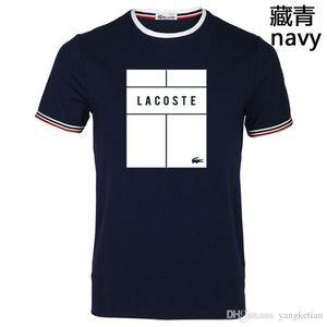 Katile crocodile été nouveau col rond T-shirt à manches courtes hommes pur coton soyeux coton respirant glace soie été