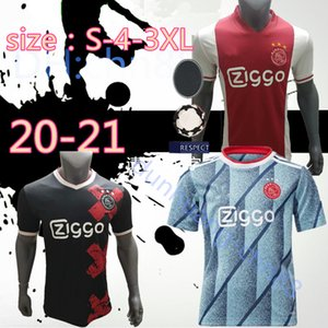 size:S-3XL 2XL 2020 2021 Ajax red white Soccer Jerseys 20 21 Ajax away Soccer Shirt 2019 #10 TADIC #34 NOURI #25 DOLBERG football uniform