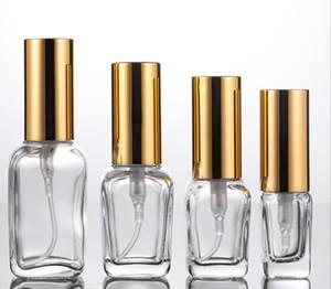 Commercio all'ingrosso profumo dello spruzzo di vetro libera Bottiglia vuota 10ml 30ml 50ml 100ml con oro atomizzatore per cosmetici online imballaggio liquido