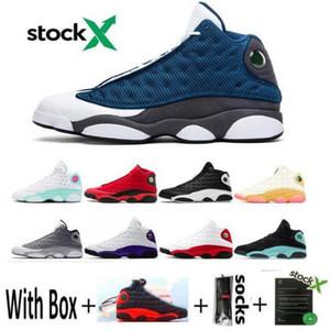 Nouvelle arrivée 2020 Chaussures de basket-ball 13 chapeau et robe Chaussure de course Flint Court Violet 13s sport Chaussures de sport pour hommes Trianers taille 8-13