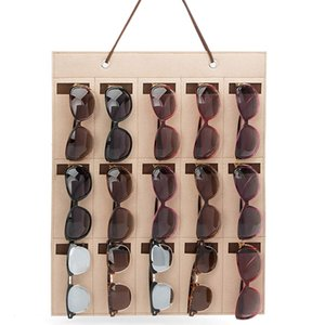 Home Storage Bag Eyeglass Sunglasses Storage Display Organizer for 15 Glasses for wall door  BY