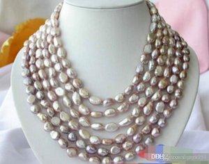 6ROW 14MM лаванда BAROQUE FW КУЛЬТИВИРУЕМЫХ жемчужное ожерелье
