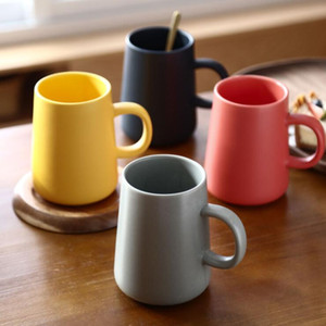 ceramic mug cup brief creative household office ceramic cup four colors 450ml 480pcs carton drop shipping