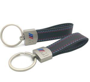 New Fashoin Metal Leather Keyring Keychain Key Chain Belt Chrome For BMW M Sport E46 E39 E60 F30 E90 F10 F30 E36 X5 E53 E30 E34 X1 X3