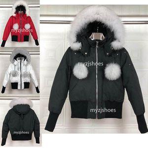 Canada nouveau épaissi chaud importé de femmes blanches de veste en duvet coupe-vent manteau imperméable mode femme veste classique vers le bas
