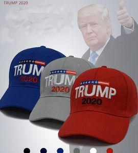 Gorra de béisbol de Trump 2020 Hat Donald Trump Sports Outdoor Hats Ajustable Snapback Trump para Presidente Hat LJJK1310