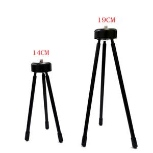 Starke Last 3kg Metall schwarz tragbares Mini-Licht Tischfuß Stativ Grip Stabilisator für Kameras Telefon-Projektor-Teleskops