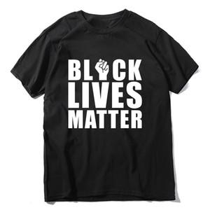 6 cores Mens T Shirts negra vive MATÉRIA Letters Impressão solto Masculino Feminino T-shirt de algodão de manga curta roupa ocasional