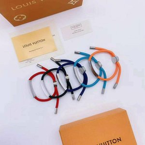 New pattern With box Luxurious Colorful Bracelet jewelry women Hand rope stainless steel Chain bracelet L̴V bangle designer gif 6318