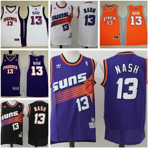 Горячая старинные баскетбол кофта дома Стива Нэша 13 Финикс Санз горячей НБА колледж 13 Стив Нэш заработал издания SunsStitched