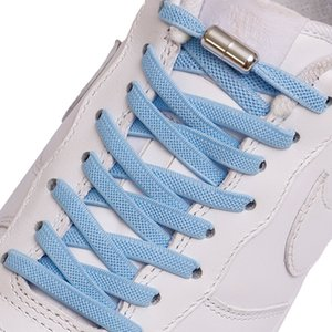 1Pair New Flat Elastic Locking Shoelace No Tie Shoelaces Special Creative Kids Adult Unisex Sneakers Shoes Laces strings