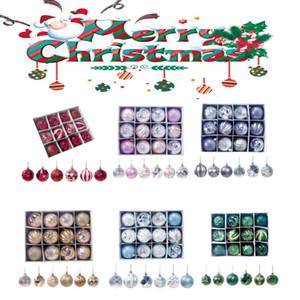 Weihnachtsbaum Dekoration Ball Weihnachtsbaum Ornament DIY Hängende Tropfen Mit Seil Bälle 5,5 cm Hause Weihnachtsschmuck