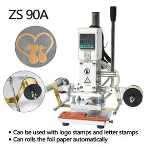 High Quality ZS90A DIY Digital Manual Paper PVC Card LOGO Leather Hot Foil Stamping Embossing Machine Heat Press Machine Punch Press