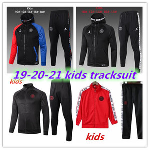 Qualidade superior 2019 2020 PSG Real Madrid ISCO kids Long zipper jacket tracksuit 18 19 20 UTD MBAPPE POGBA kids jacket tracksuit