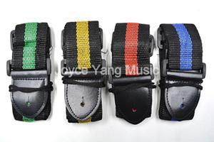 Niko 4 cores Stripe Universal Durable Leather Strap guitarra acústica elétrica extremidades livres envio grosso