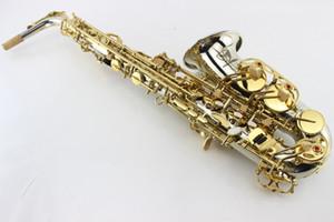 Высокое качество MARGEWATE альт-саксофон высокое качество латунь труба корпус золотой лак ключ Жемчужина кнопка Eb Tune саксофон инструмент с мундштуком случае