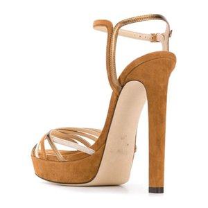 Tasarımcı-Su geçirmez Platformu Yazım Renk Fasciola Bir Kelime Tipi Hasp Kadın Sandalet