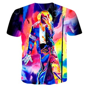 2020 World Singer Dance King Mike 3D Painted Tide T-shirt Rock Digital 3D Printed T-shirt Movie Character T-shirt S-4XL