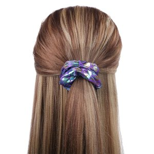 Shiny Mermaid Laser-Haar Scrunchy elastische Haar-Riegel-Seil Bobble Band Frauen-Mädchen-Haarband Pferdeschwanz-Halter-Haar Accesserie LJJA3640
