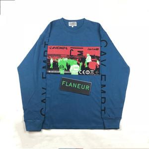 Hombre del diseñador T Shirts CAV Empt 18AW X Calle CE MANGA LARGA marca de moda de manga larga suelta T Shirts ropa casual