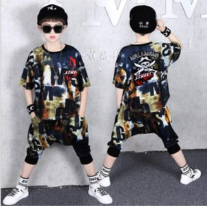 New children's wear boys' suit summer style relaxed Sports Baby Children's Harun pants fashion two piece set
