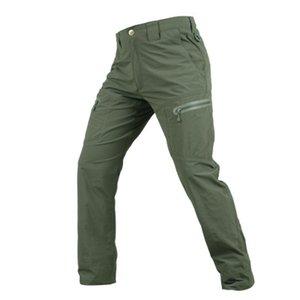 Calças Mens Primavera-Verão Tactical Vestuário cargas sólidas Pants Zipper Exército Calças Calças masculinas Fit Calças