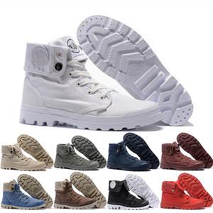 النساء الرجال البلاديوم Pallabrouse مارتنز أحذية الكلاسيكية الثلاثي أبيض أسود الشتاء الجيش الحذاء الأخضر الكاحل الجوارب حجم 36-45