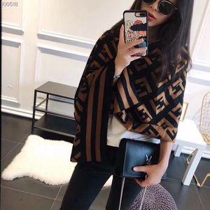 Fashion women's scarf Scarves men Scarf women high quality Plaid Letter pattern design Scarf brown