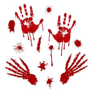 Yeni Cadılar Bayramı Kanlı El Baskı Etiketler Pasters Windor Duvar Sticker Cadılar Bayramı Partisi Bırak Gemi 110.197 Malzemeleri
