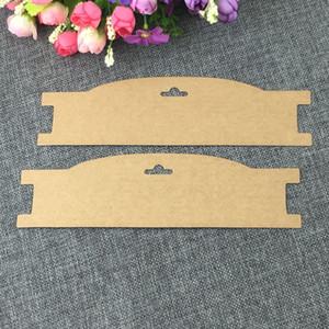 Nuovo accessorio Kraft Carte dei capelli fascia della clip Jewelry Display Card Carta dei capelli Blank Tornante Imballaggio Carta accettare su