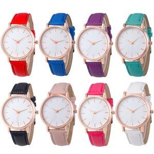 2019 Mode simple design Unisexe mens femmes dame étudiants loisirs cuir montres casual dress robe quartz sport montres pour hommes femmes