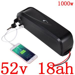 51.8V batterie vélo électrique 17AH 17.5AH 18AH 52V batterie au lithium batterie de vélo électrique pour 48V500W 750W 1000W moteur ebike