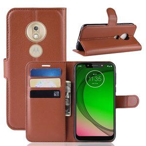 Litchi Carteira Capas De Couro Para Moto G Play 2021 Stylus G7 Power Google Pixel 5A 3A XL LEECHEE Stand Skin Telefone Capa de Telefone Luxo