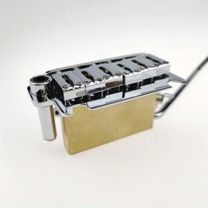 Classique Chrome Vibrato Tremolo Guitar Bridge Base en laiton épaissie Tremolo système